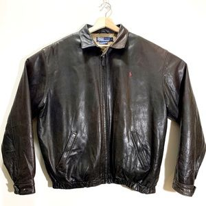Vintage Polo Ralph Lauren leather jacket L
